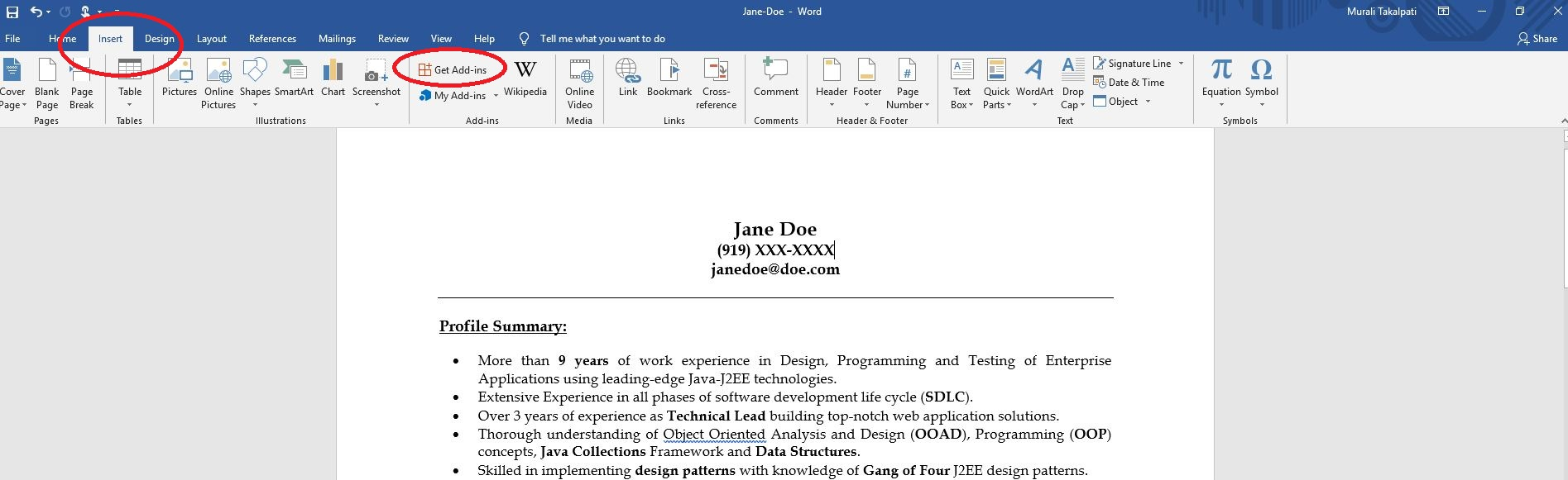 How to add the iReformat App from App Store in Microsoft Word 2013