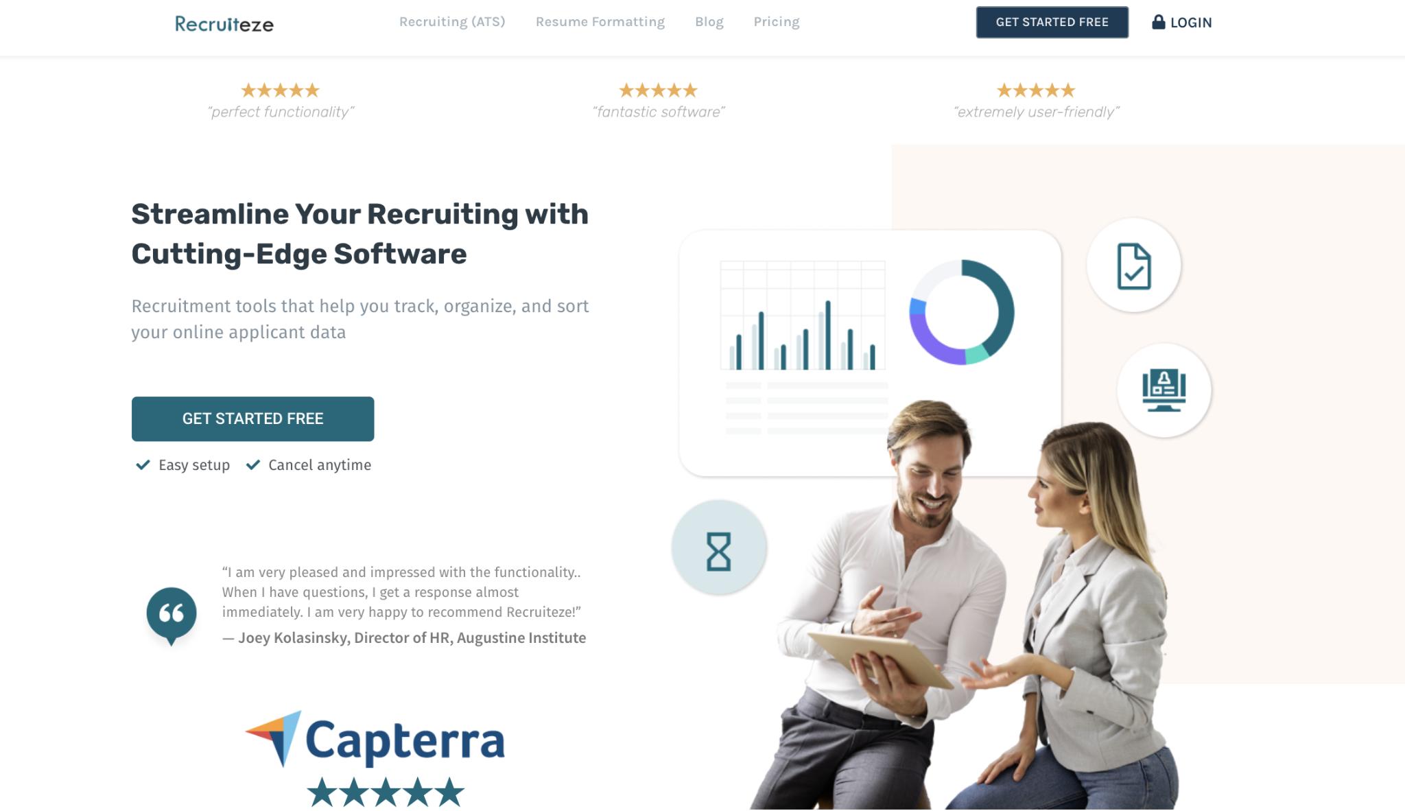 Staffing agency software #1: Recruiteze