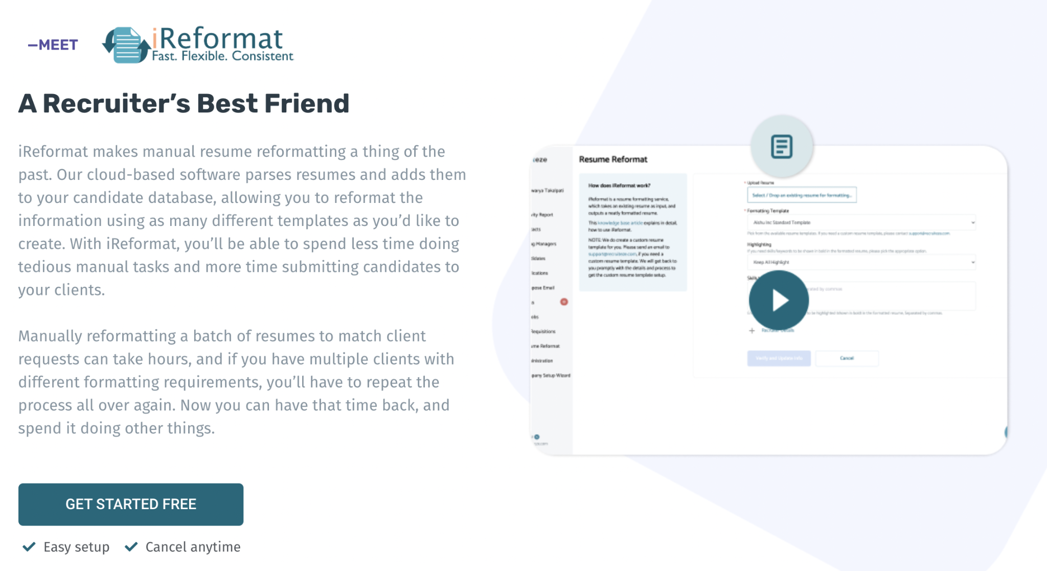Start using iReformat today
