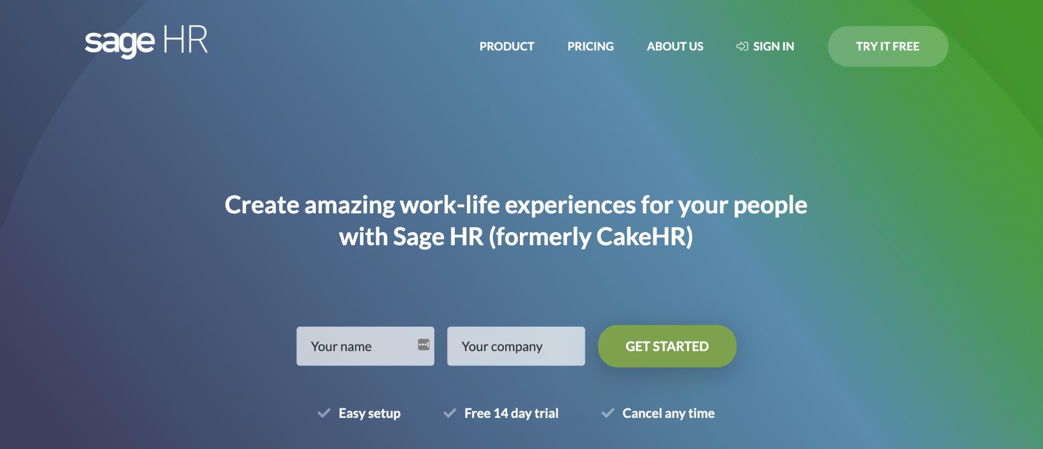 Workable Alternative #3: SageHR