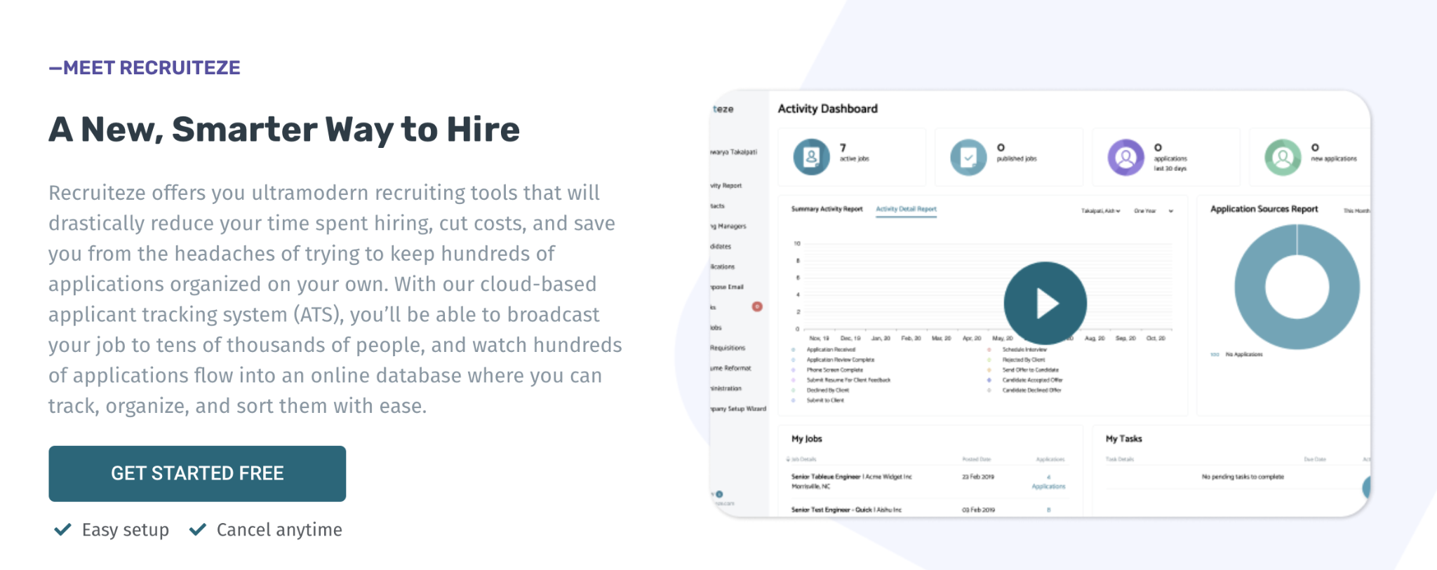 Small business recruiting strategies are far easier with Recruiteze